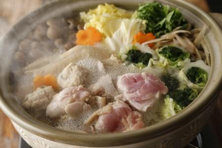 【鳥藤の鍋×とりそば】鳥藤のしゃも鍋・煮込み麺付き